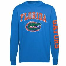 Youth Florida Gators Royal Blue Distressed Arch & Logo Long Sleeve T-Shirt