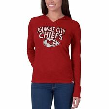 Kansas City Chiefs '47 Brand Womens Primetime Hooded Long Sleeve T-Shirt � Red