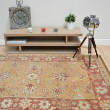 Plantation Traditional Taj Agra Gold 06 Wool Rug in various sizes and runner