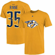 Men's Nashville Predators Pekka Rinne Reebok Gold Name and Number T-Shirt - NHL