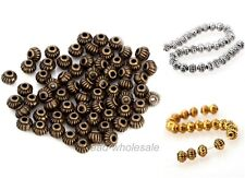 Wholesale Antique Tibetan Silver Metal Beads Spacer Beads Findings 5mm
