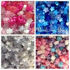 ♥ 50 MIXED SHAPED PLASTIC PONY BEADS ♥ GIRLS ♥ BOYS ♥ STARS ♥HEARTS ♥ FLOWERS ♥