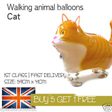 CAT WALKING PET BALLOON ANIMAL AIRWALKER BIRTHDAY KIDS FARM FUN