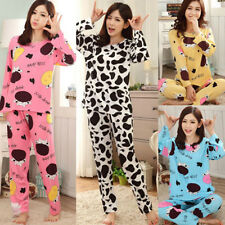 Ladies Women Print Set Nightwear Robe Pyjamas Sets Plus Size UK 12-20 Sleepwear