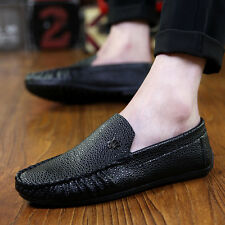 Men Comfy breathe Leather Loafer No-slip Casual leisure Driving Moccasin shoes