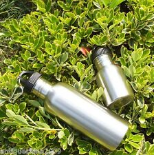 750ml/350ml Outdoor Sports Wide Mouth Drinking Water Bottle Cycling Stainless