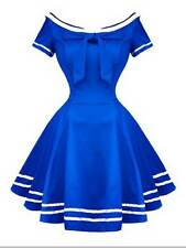 Hearts and Roses (H&R) Retro Roackabilly Vintage Sailor Salute Dress 50s