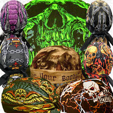 Deluxe Paisley Head Wrap Skull Cap Cover Du Hat Lot Biker Do Bandana Web Doo Rag
