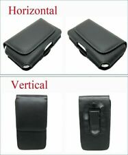 Compact Leather Belt Clip Loop Holster Case Magnetic Flip Pouch Cover Cell Phone
