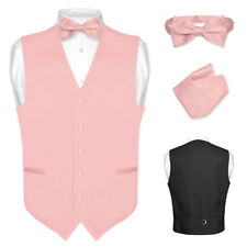Men's Dress Vest BOWTie DUSTY PINK Bow Tie Set for Suit or Tuxedo