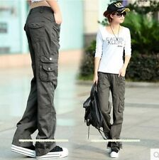 Outdoor Women's Military Army Fashion Green Cargo Pocket Pants Leisure Trousers