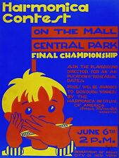 Quality POSTER on Paper or Canvas.Wall Art Decoration.Harmonica Contest.4820