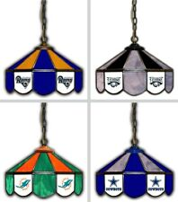 """Choose Your NFL Team 16"""" Hanging Tiffany Style Stained Glass Pub Light Lamp"""