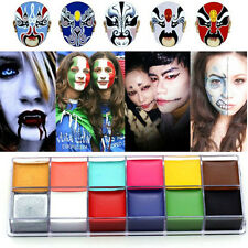 12 Colors Face Body DIY Painting Oil Art Make Up Set For Halloween Party Fancy