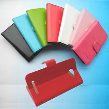 Wallet Folder Flip Folio PU Leather Case Cover for Optus Smartphone mobile
