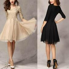 Women Half Sleeve Bridesmaid Dress Formal Party Prom Gown Cocktail Dress XXL F38