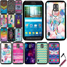 For Samsung Galaxy S5 Active G870A Turtles Slim Fit Hard Back Case Cover + Pen