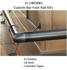Bar Foot Rail - Create your own Custom Kit - 8 Finishes - 18 Sizes - 2 Brackets