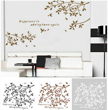 Tree Branches Birds Wall Decor Home Decal Sticker Removable 3 Colors TO Choose