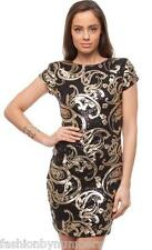 NWT SASS Libby Black Gold SEQUIN Bodycon COCKTAIL Dress 10 12 - SUPER SALE!