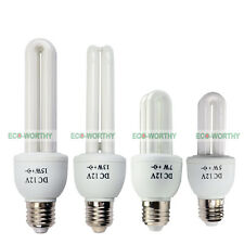 CFL Fluorescent Energy Light DC 12V E27 Bulbs Cool/Warm White for Solar Light