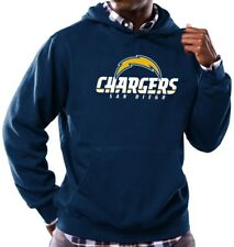 San Diego Chargers Majestic NFL Critical Victory Hooded Sweatshirt - Navy