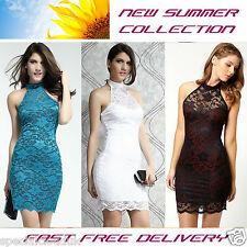 Elisa Sweetheart Halterneck Lace Dress 3 colours Party Sexy Fasion Summer woman