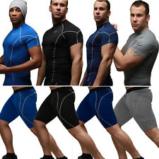 Men's Compression Base Layer Workout Clothing Tops Thermal Shirt Leggings Pants