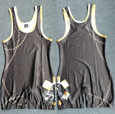 Can custom Skull Wrestling Singlet Man One piece Clothes Weight Lifting Gear