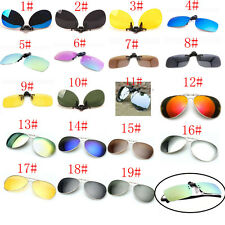 19 Colors Men/Women Polarized UV400 Lens Clip-on Flip-up Myopia SunGlasses YUO