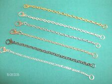 Light Weight Necklace Extender  - it's a  fine  Chain - 3 to 8 Inchs - 6 Colors