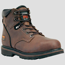"Mens Timberland 6"" Pit Boss Steel Safety Toe Brown Work Boot Size 7-15 33034214"