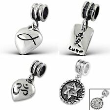 925 Sterling Silver Solid Charm Beads European Bracelets - Magical Plaques Hang