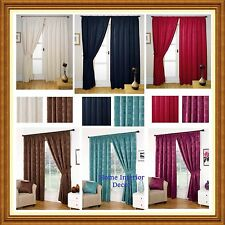 Milano Fully Lined Readymade Curtains Including Free Tiebacks - 6 Colours