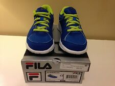 CLEARANCE SALE! NIB Fila Boys Scribbles Blue/Green  Running Play Shoes Sneakers
