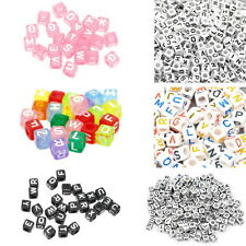 500PCS Cube Acrylic Letter Alphabet Beads DIY Crafts