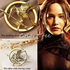 The Hunger Games Katniss Everdeen Mockingjay Pin Brooch Badge Cosplay Prop NEW