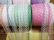 Pretty 10yards  high-quality color edge lace ribbon embroidery knitting