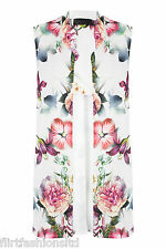 Ladies Sleeveless Floral Printed Blazer Classy Elegant Jacket Must Have Unique