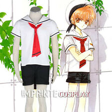 Cardcaptor Sakura Tomoeda School Boys Summer Uniform Cosplay Costume FREE P&P