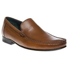 New Mens Ted Baker Tan Simeen 2 Leather Shoes Loafers And Slip Ons On