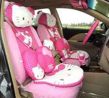25PCs Dark Pink&Rose Hello Kitty Car Accessories Car Seat Covers For Gift Women