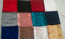 Turkish Style Satin Square Scarves Hijabs Plain Different Colors FREE BONNET