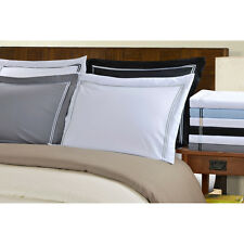 Wrinkle Resistant Solid 2-Line Embroidery 3-piece Duvet Cover Set