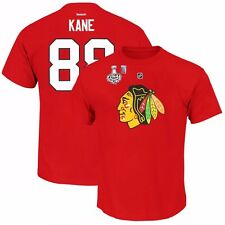 Patrick Kane 2015 Chicago Blackhawks Jersey T Shirt w/ Stanley Cup Patch Men's