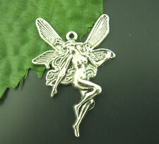 Wholesale Mixed Lots Silver Tone Fairy Angel Charms Pendants 21x15mm