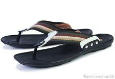 US7-11 New  fashion mens flip flops Thong leather beach sandal shoes