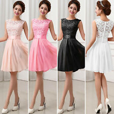 New Womens Bridesmaid Prom Gown Formal Cocktail Bodycon Short Bridesmaid Dresses
