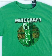 NWT Justice boys shirt Minecraft Creeper Green tee 5  8 10 12 14 Brothers NEW