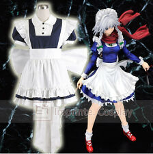 Touhou Project Sakuya Izayoi Cosplay Costume Full Set FREE P&P